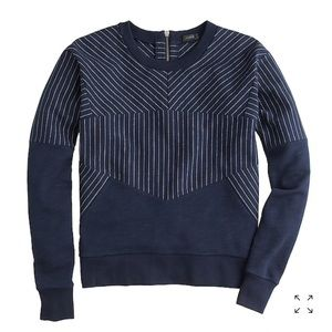 J Crew Pieced Pinstripe Sweatshirt